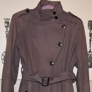 Kenneth Cole high collar peacoat style Jacket